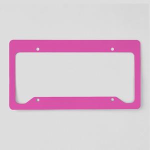 girly fuschia pink License Plate Holder