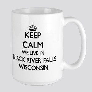 Keep calm we live in Black River Falls Wiscon Mugs