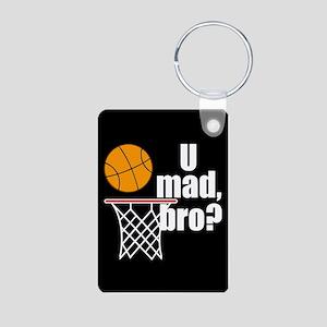 U Mad Bro? Aluminum Photo Keychain