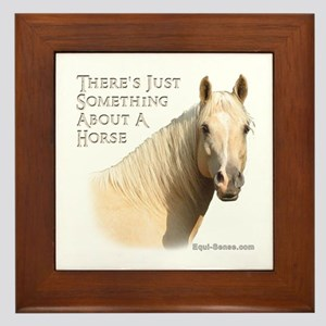 Something About A Horse Framed Tile