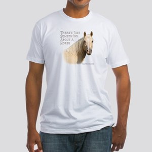 Something About A Horse Fitted T-Shirt