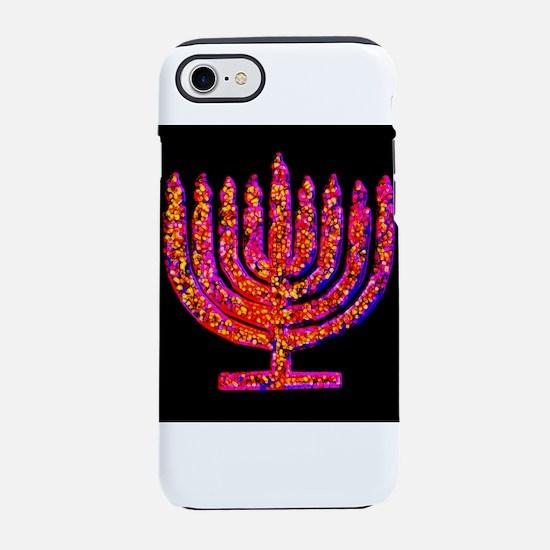 Pink Black Menorah 4Hannah iPhone 7 Tough Case
