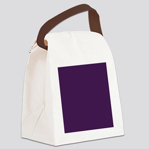 modern eggplant purple Canvas Lunch Bag