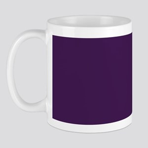 modern eggplant purple Mug