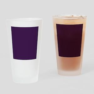 modern eggplant purple Drinking Glass