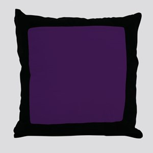 modern eggplant purple Throw Pillow