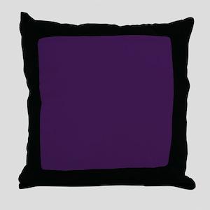 modern eggplant purple Throw Pillow