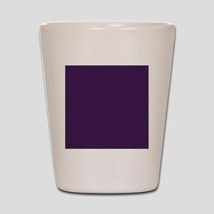 modern eggplant purple Shot Glass