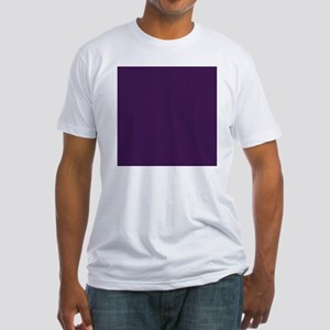 modern eggplant purple Fitted T-Shirt
