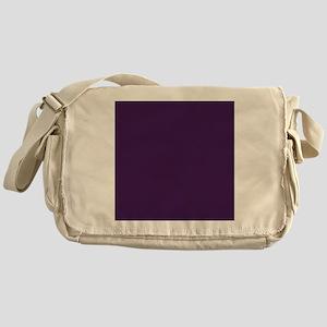modern eggplant purple Messenger Bag