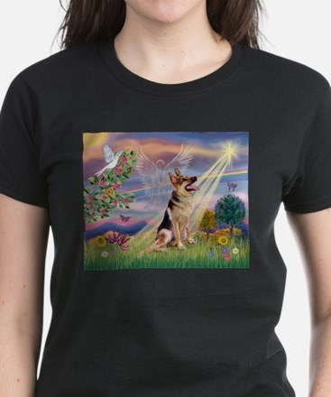 Cloud Angel & G-Shepherd Women's Dark T-Shirt