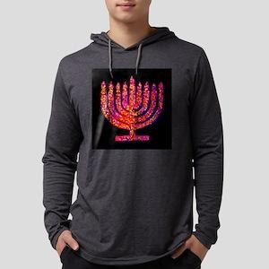 Pink Black Menorah Hannah's Fa Long Sleeve T-Shirt