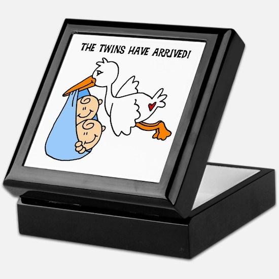 Stork Twins Have Arrived Keepsake Box