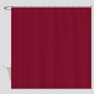 Girly Pomegranate Red Shower Curtain