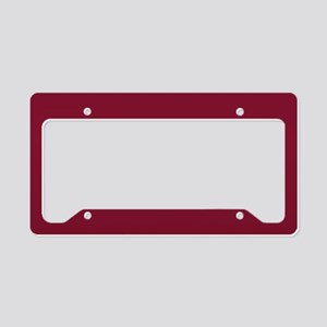 girly pomegranate red License Plate Holder