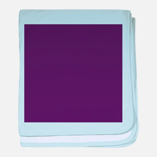 modern eggplant purple baby blanket