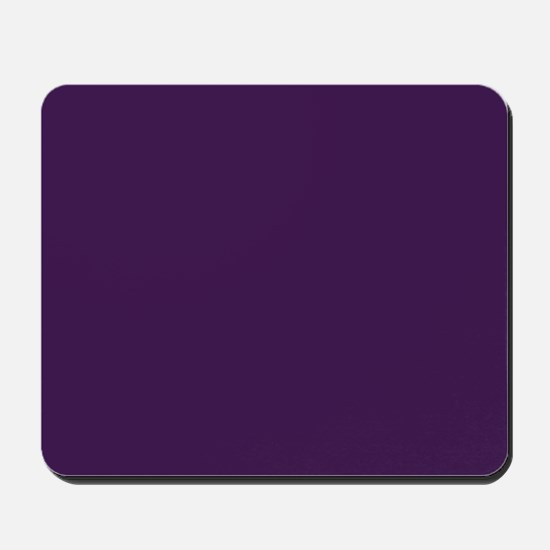 modern eggplant purple Mousepad