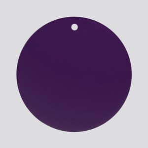 modern eggplant purple Ornament (Round)