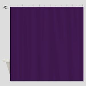 modern eggplant purple Shower Curtain