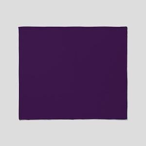 modern eggplant purple Throw Blanket