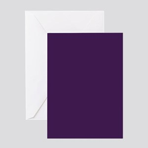 modern eggplant purple Greeting Cards