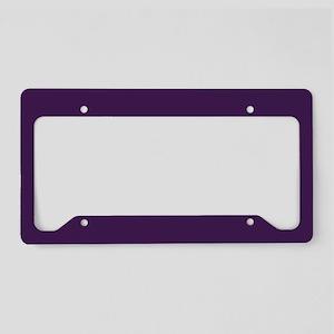 modern eggplant purple License Plate Holder