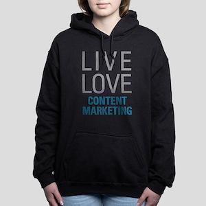 Content Marketing Women's Hooded Sweatshirt