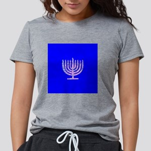 Blue Chanukah Menorah Designer T-Shirt