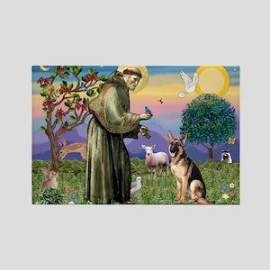 St Francis & G-Shepherd #2 Rectangle Magnet