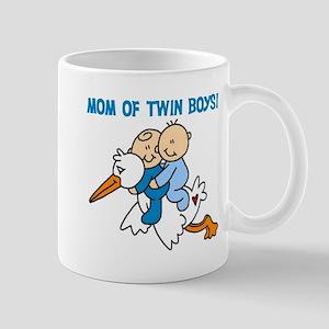 Stork Mom of Twin Boys Mug