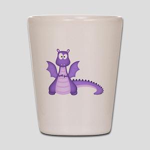 Purple Dragon Shot Glass