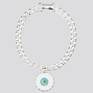 PLANET EARTH WITH HEART Bracelet