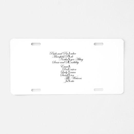 Unique Pride prejudice Aluminum License Plate