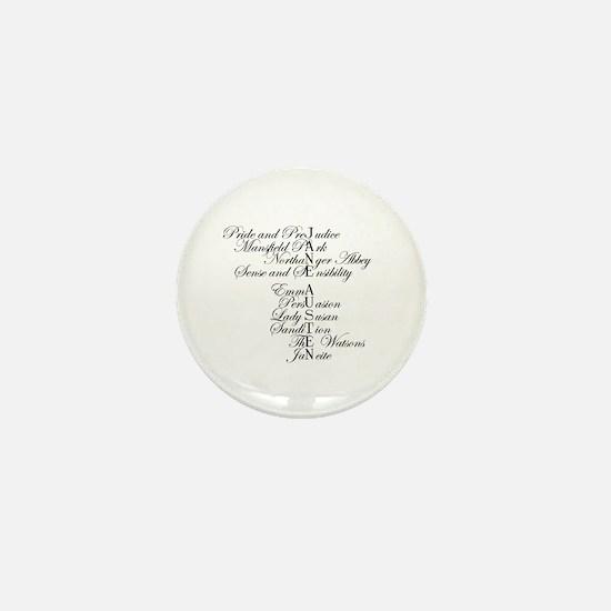 Unique Janeite Mini Button