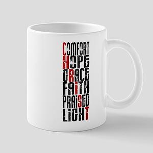 Christ Word Art Mugs
