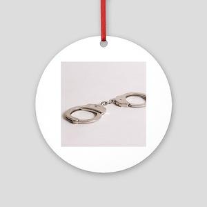 silver handcuffs photo 2 Ornament (Round)