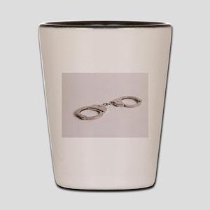 silver handcuffs photo 2 Shot Glass