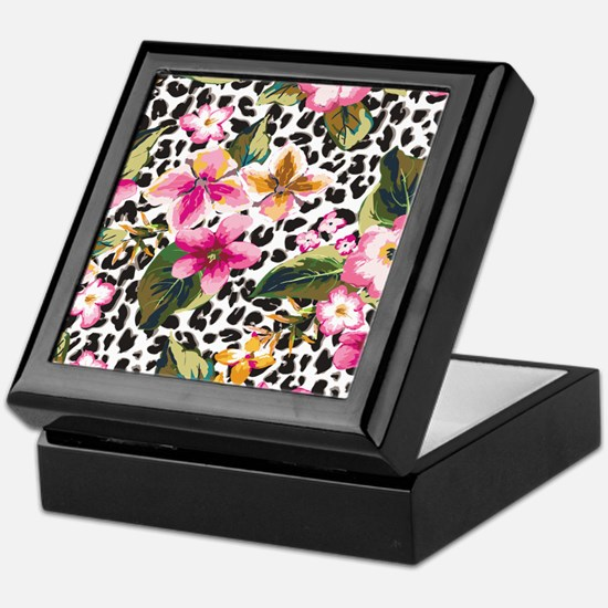 Animal Print Flower Keepsake Box