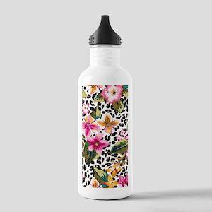 Animal Print Flower Water Bottle