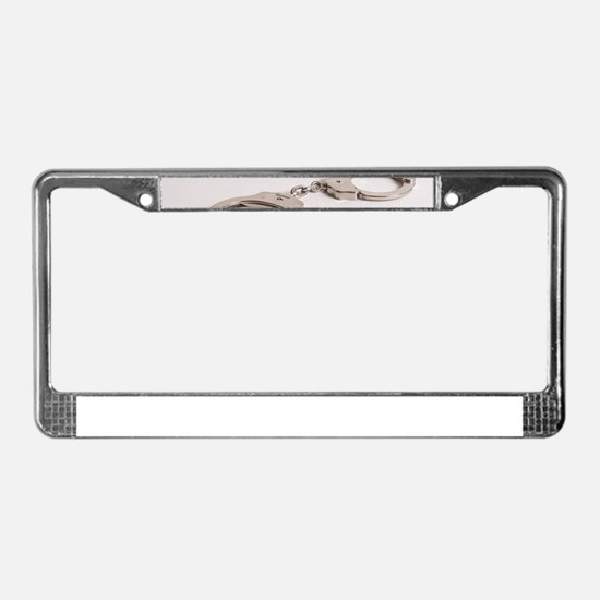 silver handcuffs photo 2 License Plate Frame