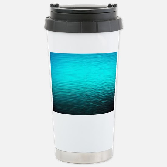 aqua blue water ombre b Stainless Steel Travel Mug