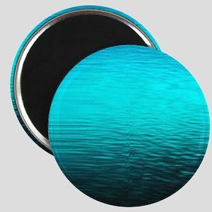 aqua blue water ombre black Magnet