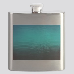 aqua blue water ombre black Flask