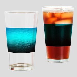 aqua blue water ombre black Drinking Glass