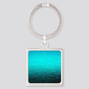 aqua blue water ombre blac Keychains