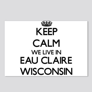 Keep calm we live in Eau Postcards (Package of 8)