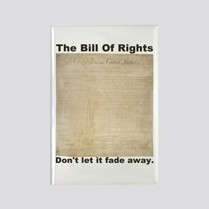 Bill Of Rights Fading Rectangle Magnet
