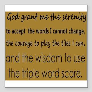 "Scrabble Serenity Square Car Magnet 3"" x 3"""