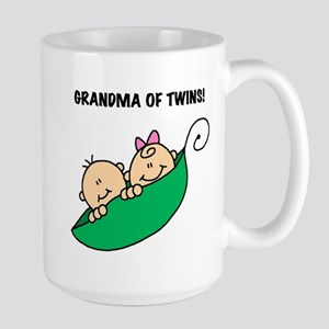 Grandma of Twins Large Mug