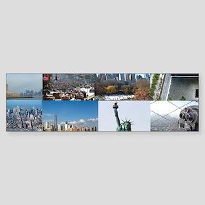 New York Pro Photo Montage-Stunni Sticker (Bumper)